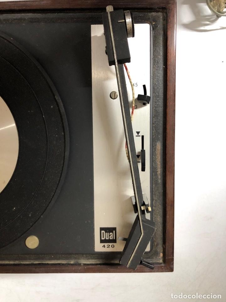 Radios antiguas: TOCADISCOS. BETTOR. MODELO EF-41. DUAL 420. FUNCIONANDO. SIN ALTAVOCES. - Foto 9 - 175758513