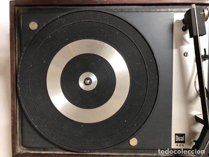 Radios antiguas: TOCADISCOS. BETTOR. MODELO EF-41. DUAL 420. FUNCIONANDO. SIN ALTAVOCES. - Foto 10 - 175758513
