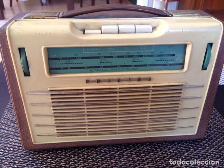 RADIO TRANSISTOR PHILIPS AÑOS 60 (Radios, Gramófonos, Grabadoras y Otros - Transistores, Pick-ups y Otros)