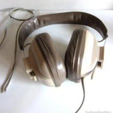 Radios antiguas: ANTIGUOS AURICULARES ESTEREOFÓNICOS AJUSTABLES CASCOS RETRO MARCA REIVOX. Lote 176062352