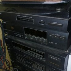 Radios antiguas: RADIO CADENA MARCA SONY CON 2 ALTAVOCES Y MANDO A DISTANCIA. Lote 176180265