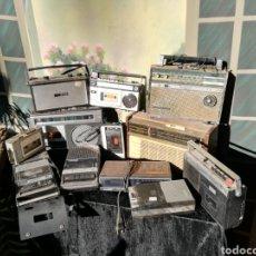 Radios antiguas: LOTE DE 12 RADIOS TRANSISTORES/ WALMAN/ GRABADORAS. Lote 177119678