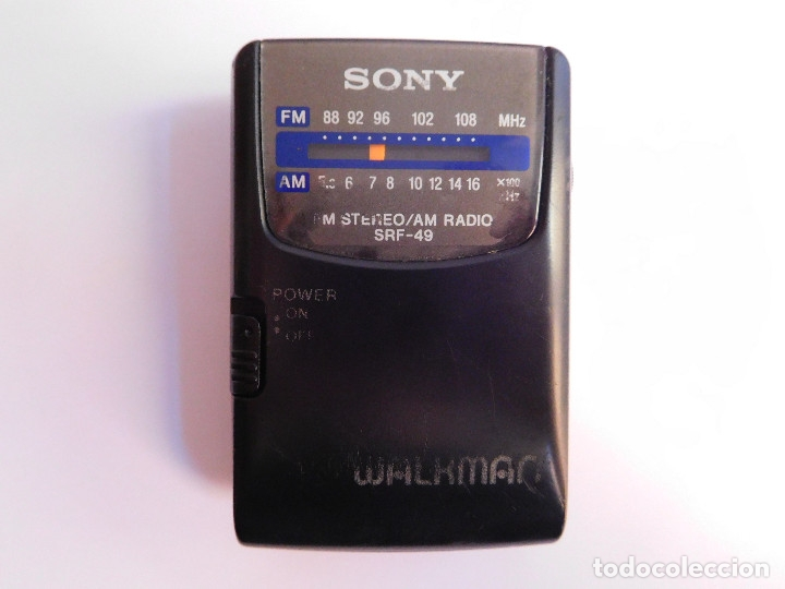 Radios antiguas: RADIO SONY SRF-49 FM STEREO/AM WALKMAN - Foto 1 - 177247823