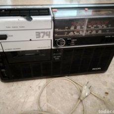 Radios antiguas: RADIO CASSETTE PHILIPS 374 AÑO 1977. Lote 177368760