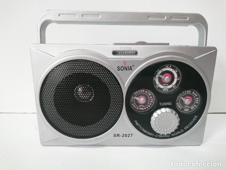 5_RADIO TRANSISTOR SONIA SR2027 (Radios, Gramófonos, Grabadoras y Otros - Transistores, Pick-ups y Otros)