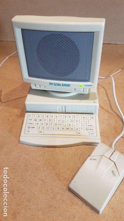 Radios antiguas: CURIOSA RADIO - FM SCAN RADIO - CON FORMA DE ORDENADOR / FUNCIONANDO. - Foto 5 - 178036890