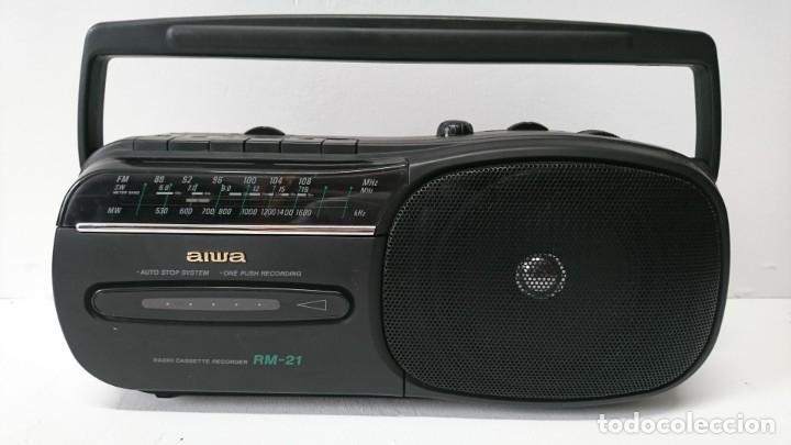 2 9-RADIO CASSETTE AIWA RM-21 (Radios, Gramófonos, Grabadoras y Otros - Transistores, Pick-ups y Otros)