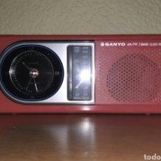 Radios antiguas: RADIO DESPERTADOR SANYO VINTAGE. Lote 178391510