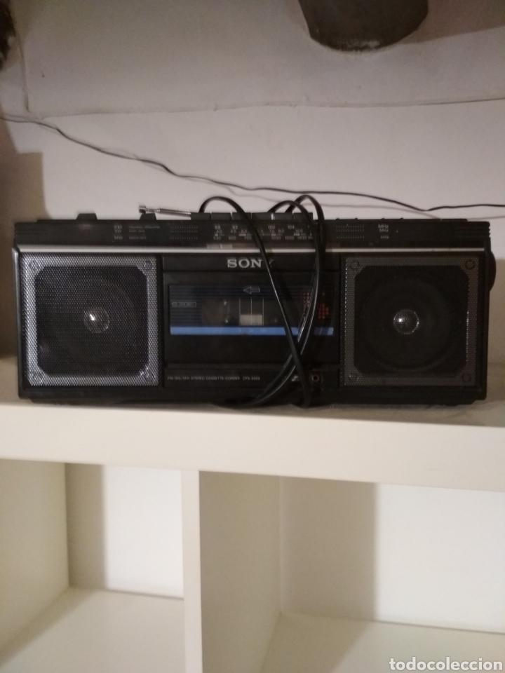 RADIO CASSETTE SONY AÑOS 70 (Radios, Gramófonos, Grabadoras y Otros - Transistores, Pick-ups y Otros)