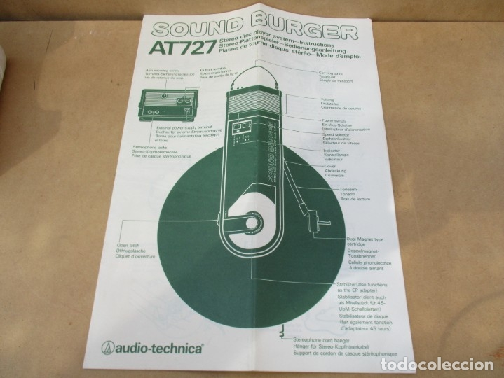 Radios antiguas: Tocadiscos sound burguer de audiotecnia,va con caja y de regalo una aguja nueva fotos - Foto 4 - 179149655