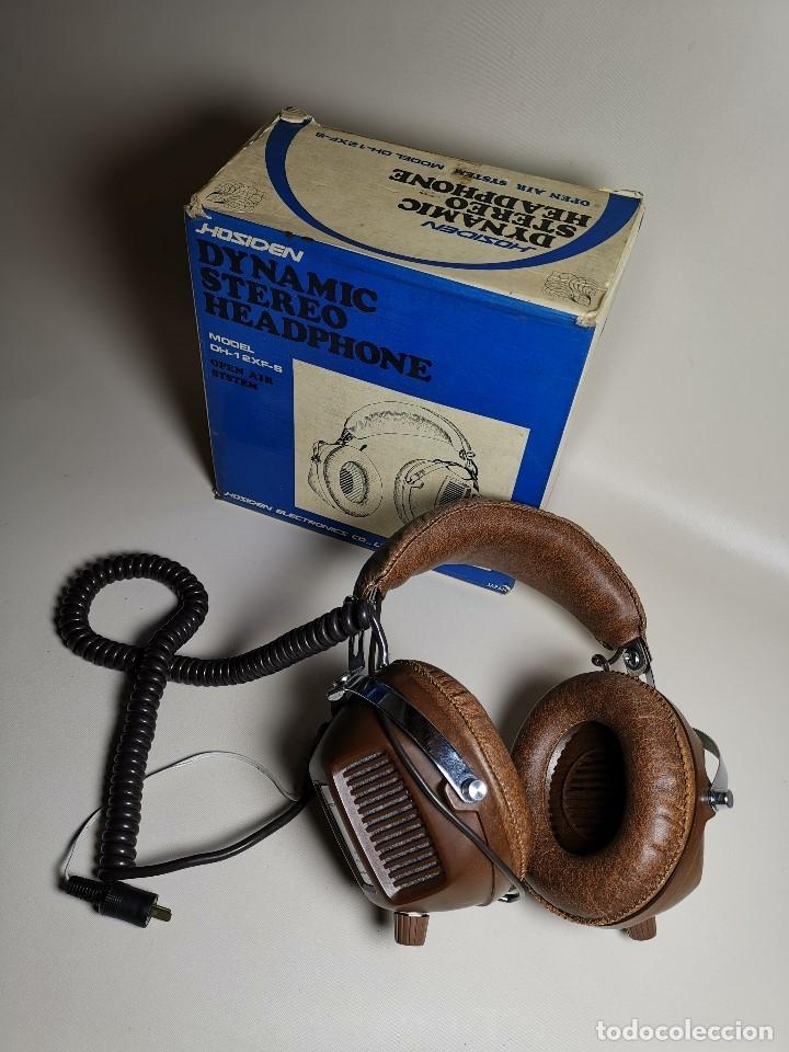 Radios antiguas: AURICULARES HOSIDEN MODEL DH-12XF-S AÑOS 70 MADE IN JAPAN-NUEVOS SIN USO- STEREO HEADPHONES - Foto 2 - 179174751