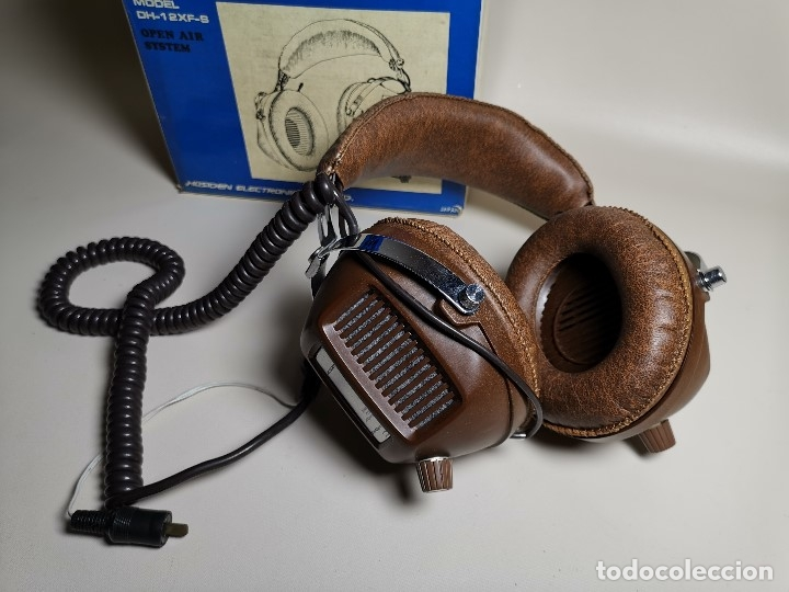 Radios antiguas: AURICULARES HOSIDEN MODEL DH-12XF-S AÑOS 70 MADE IN JAPAN-NUEVOS SIN USO- STEREO HEADPHONES - Foto 4 - 179174751