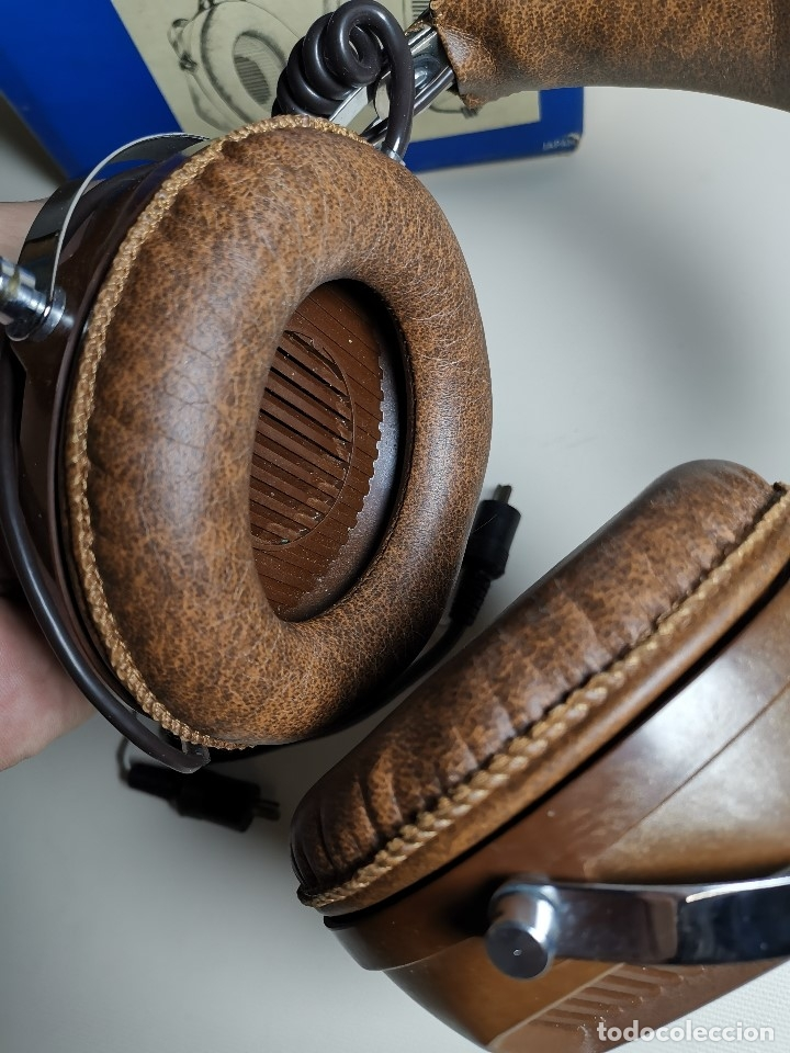 Radios antiguas: AURICULARES HOSIDEN MODEL DH-12XF-S AÑOS 70 MADE IN JAPAN-NUEVOS SIN USO- STEREO HEADPHONES - Foto 10 - 179174751