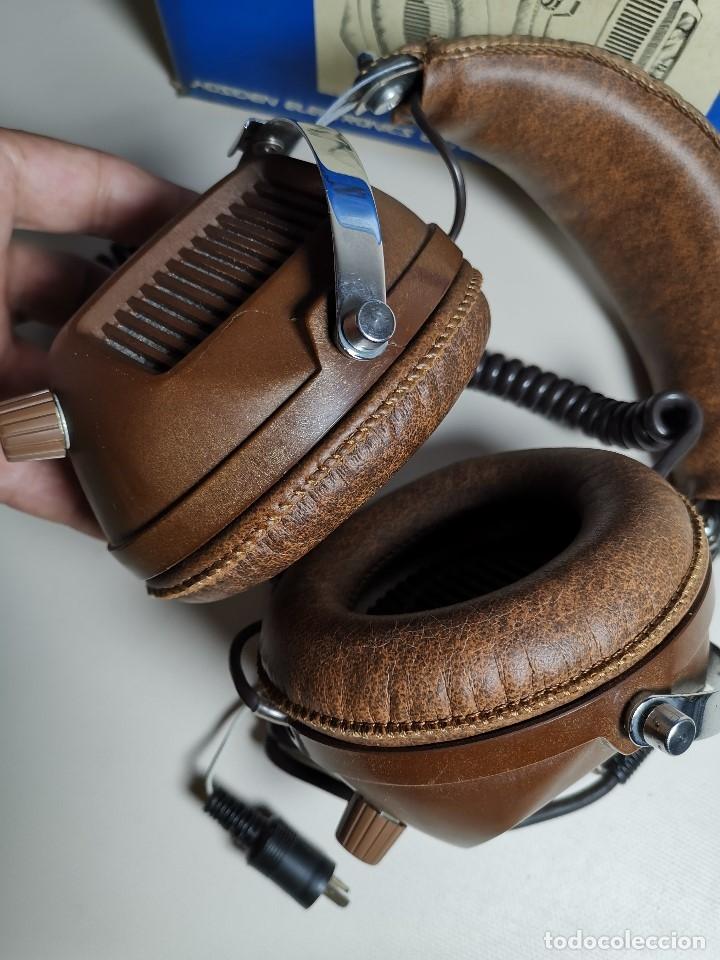 Radios antiguas: AURICULARES HOSIDEN MODEL DH-12XF-S AÑOS 70 MADE IN JAPAN-NUEVOS SIN USO- STEREO HEADPHONES - Foto 14 - 179174751