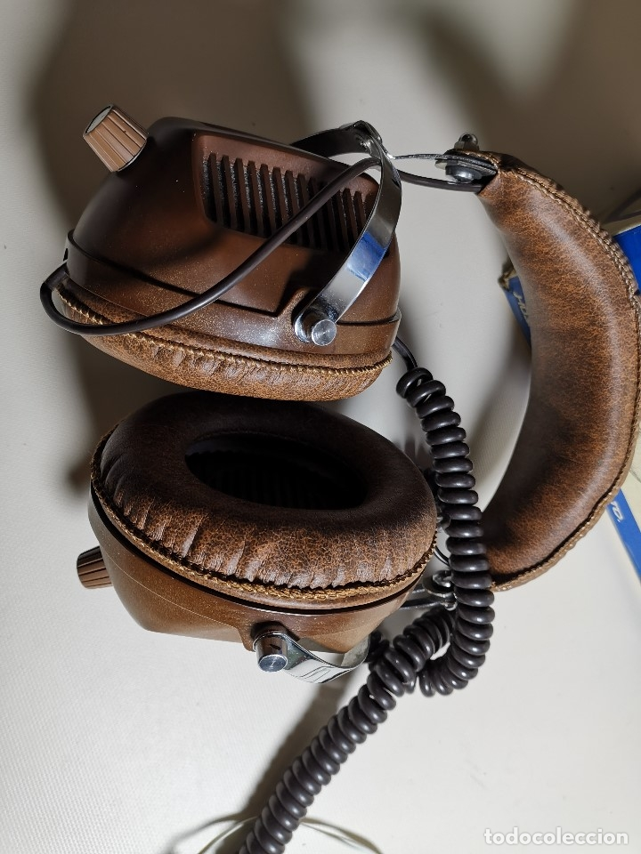 Radios antiguas: AURICULARES HOSIDEN MODEL DH-12XF-S AÑOS 70 MADE IN JAPAN-NUEVOS SIN USO- STEREO HEADPHONES - Foto 20 - 179174751
