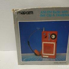 Radios antiguas: 110-RADIO TRANSISTOR MAXIM MX2337H. Lote 179198628