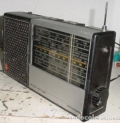RADIO TRANSISTOR GRUNDIG MELODY BOY 600 FUNCIONANDO (Radios, Gramófonos, Grabadoras y Otros - Transistores, Pick-ups y Otros)