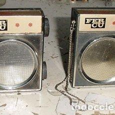 Radios antiguas: DOS MINI TRANSISTORES FERCU. Lote 179527505
