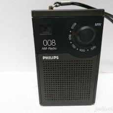 Radios antiguas: 121-RADIO TRANSISTOR PHILIPS 008. Lote 108064127