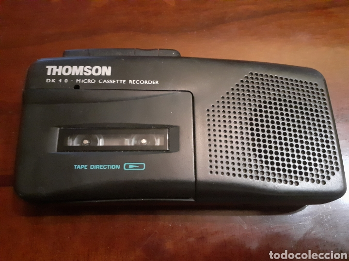 GRABADORA THOMSON MICRO CASETE DE 4 0.FUNCIONANDO (Radios, Gramófonos, Grabadoras y Otros - Transistores, Pick-ups y Otros)