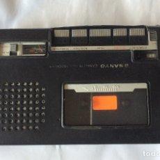 Radios antiguas: GRABADORA Y REPRODUCTOR DE CASSETTES SANYO M5000,AÑOS 70. Lote 180246596