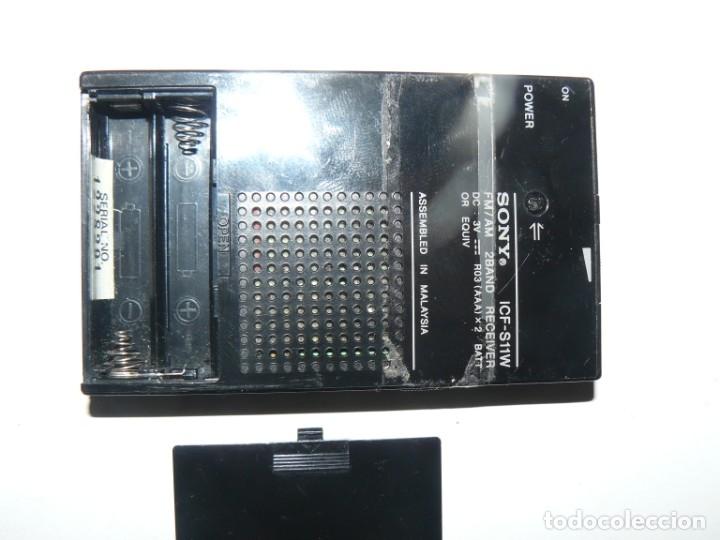 Radios antiguas: RADIO TRANSISTOR SONY MOD.ICF-S11W - Foto 3 - 180313968