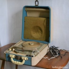 Radios antiguas: TOCADISCOS KONIGER DUAL JUNIOR * AZUL Y CREMA. Lote 183014486