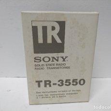 Radios antiguas: 195-RADIO TRANSISTOR SONY TR-3550. Lote 183207915