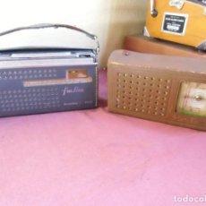 Radios antiguas: VINTAGE.PAREJA DE TRANSISTORES VANGUARD Y SUNIA,AÑOS 60-70.NO FUNCIONAN,FABRICADOS EN ESPAÑA.. Lote 183704512