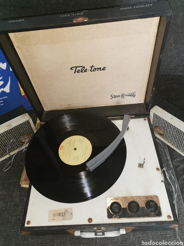 Radios antiguas: Pick-up tele-tone. USA. Años 50. Funciona - Foto 2 - 183822251