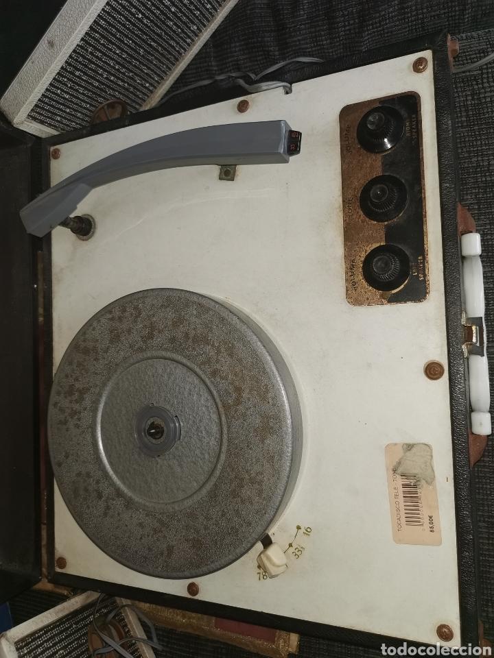Radios antiguas: Pick-up tele-tone. USA. Años 50. Funciona - Foto 3 - 183822251