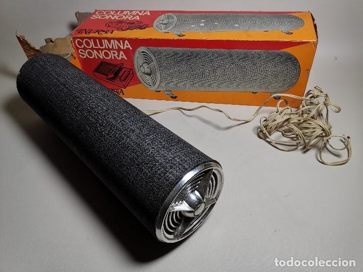 Radios antiguas: Altavoces auxiliares- Columna sonora INERSA - Años 60 -En su caja original-automovil..MODELO CROMADO - Foto 4 - 184218987