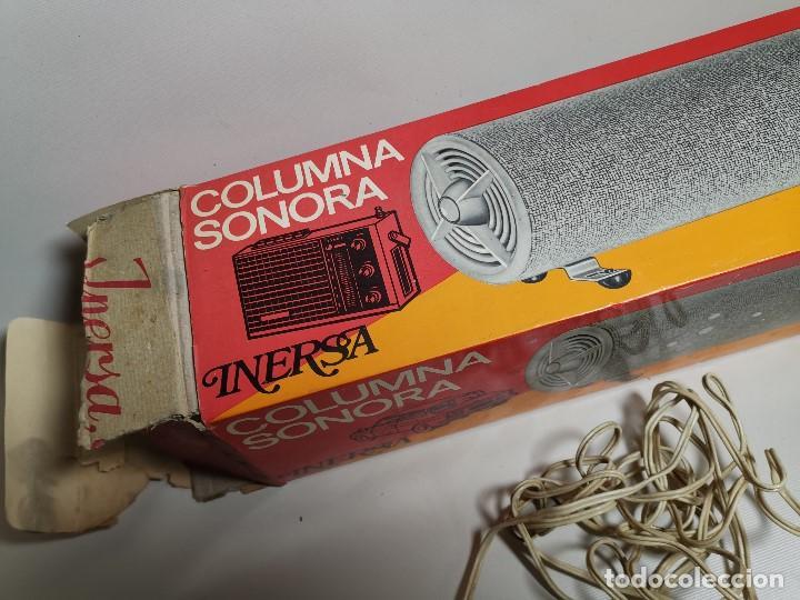 Radios antiguas: Altavoces auxiliares- Columna sonora INERSA - Años 60 -En su caja original-automovil..MODELO CROMADO - Foto 23 - 184218987