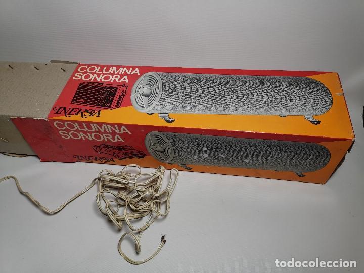 Radios antiguas: Altavoces auxiliares- Columna sonora INERSA - Años 60 -En su caja original-automovil..MODELO CROMADO - Foto 24 - 184218987