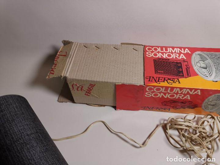 Radios antiguas: Altavoces auxiliares- Columna sonora INERSA - Años 60 -En su caja original-automovil..MODELO CROMADO - Foto 25 - 184218987
