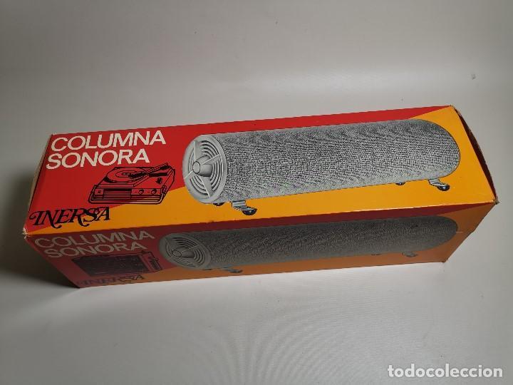 Radios antiguas: Altavoces auxiliares- Columna sonora INERSA - Años 60 -En su caja original-automovil..MODELO CROMADO - Foto 26 - 184218987