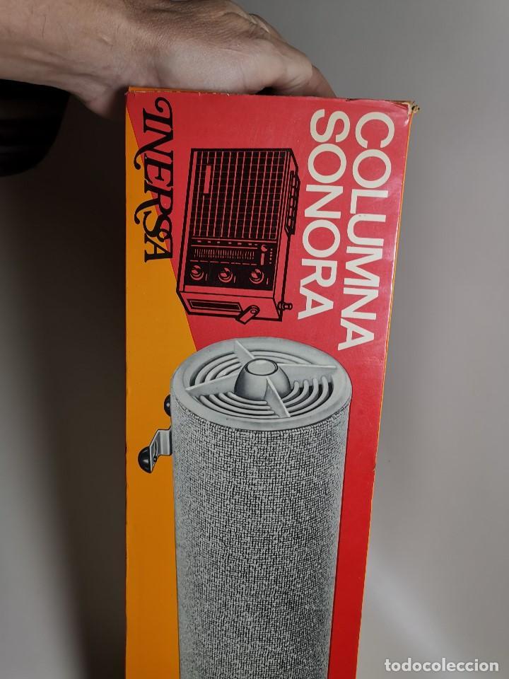 Radios antiguas: Altavoces auxiliares- Columna sonora INERSA - Años 60 -En su caja original-automovil..MODELO CROMADO - Foto 27 - 184218987