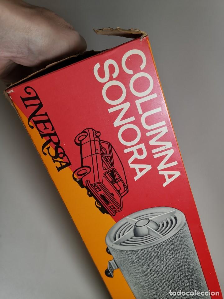 Radios antiguas: Altavoces auxiliares- Columna sonora INERSA - Años 60 -En su caja original-automovil..MODELO CROMADO - Foto 29 - 184218987