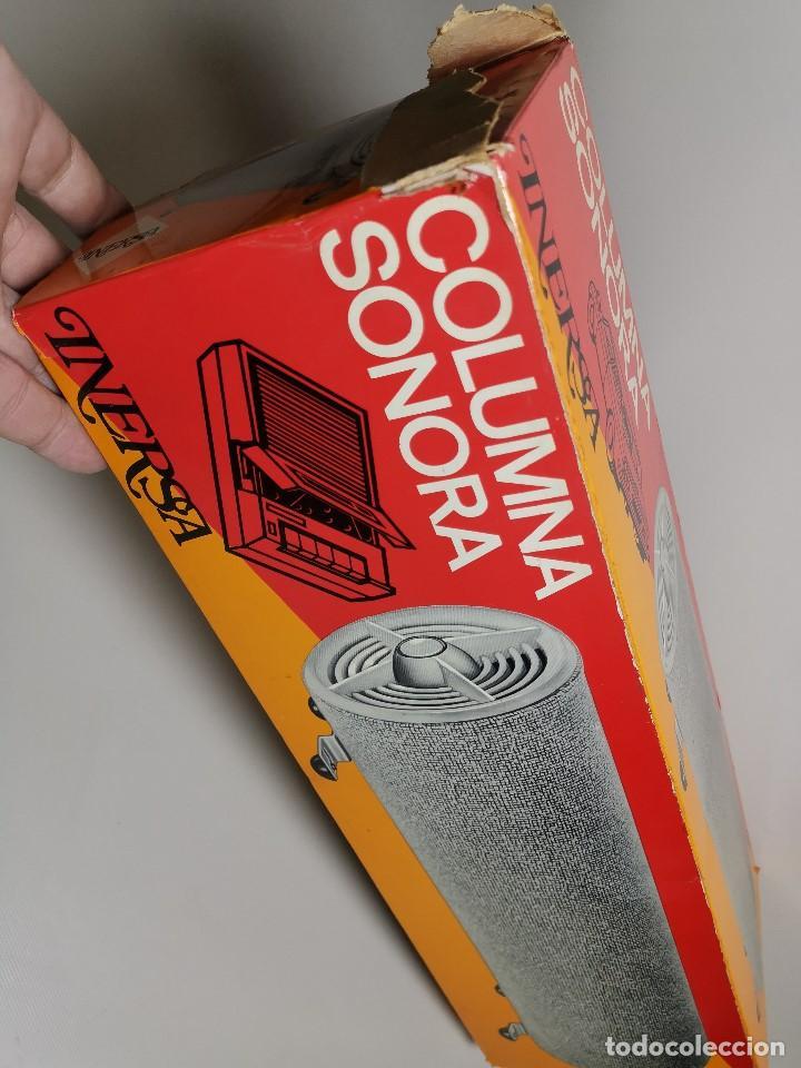 Radios antiguas: Altavoces auxiliares- Columna sonora INERSA - Años 60 -En su caja original-automovil..MODELO CROMADO - Foto 31 - 184218987