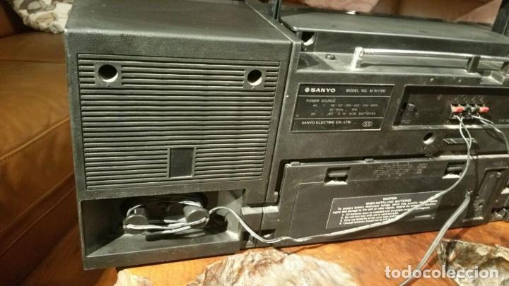 Radios antiguas: RADIOCASSETTE SANYO MODEL NO. M W170K - Foto 6 - 184242938