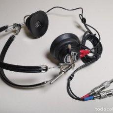 Rádios antigos: AUDIOMETRIC EARPHONES TDH-39P TELEPHONICS AURICULARES AUDIOMÉTRICOS DE TELEFONÍA-GAMA ALTA !!!. Lote 185920882