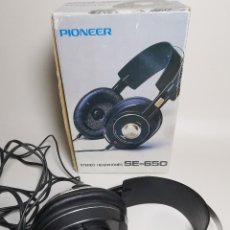 Radios antiguas: VINTAGE PIONEER SE-650 RETRO STEREO HEADPHONES MADE IN JAPAN 1980-AURICULARES. Lote 185923685