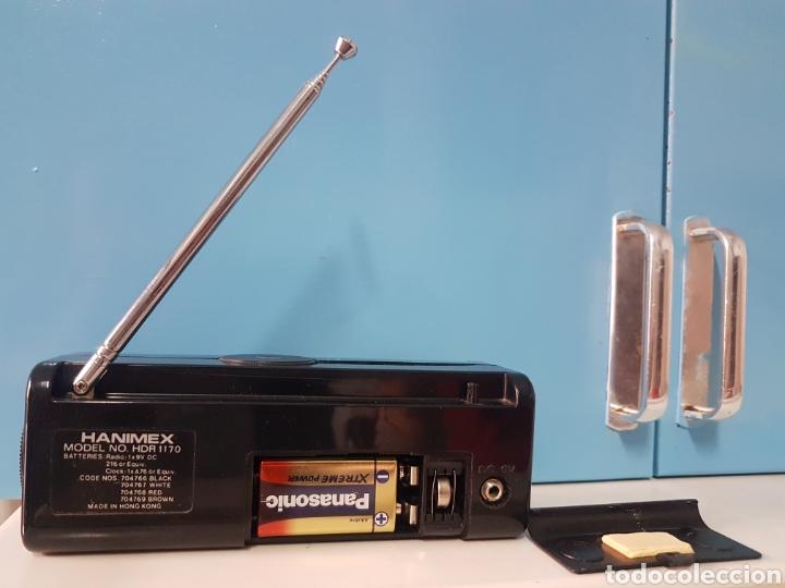 Radios antiguas: Radio reloj despertador Hanimex HDR 1170 Negro - Foto 2 - 186070272