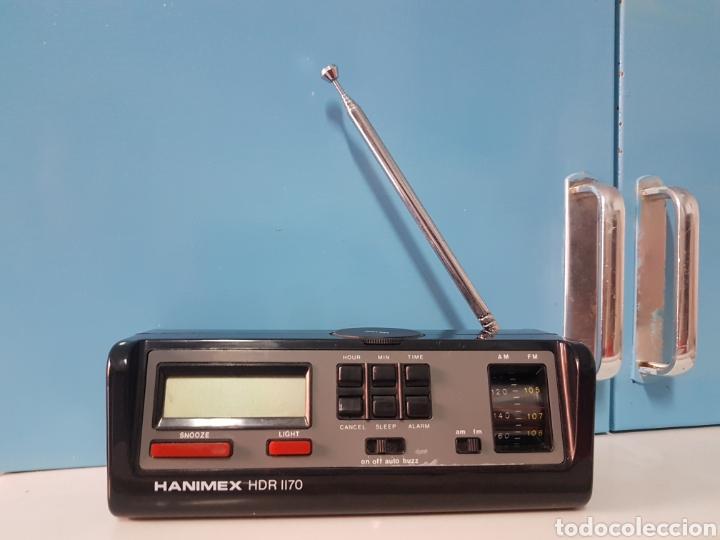 RADIO RELOJ DESPERTADOR HANIMEX HDR 1170 NEGRO (Radios, Gramófonos, Grabadoras y Otros - Transistores, Pick-ups y Otros)