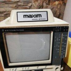 Radios antiguas: RADIO TELEVISIÓN TV 4,5 PULGADAS MAXIM BTR 201. Lote 186173043