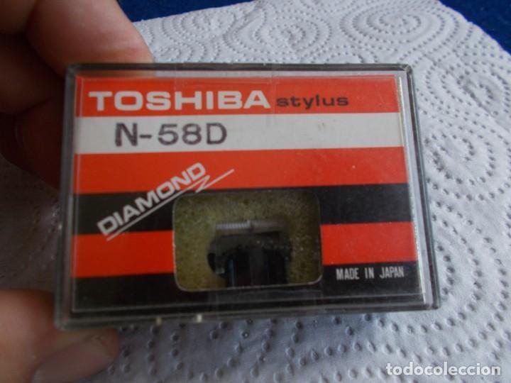 ENVIO CON TC: 3€ AGUJA PARA TOCADISCOS: TOSHIBA STYLUS DIAMANTE N-58D NUEVA (Radios, Gramófonos, Grabadoras y Otros - Transistores, Pick-ups y Otros)