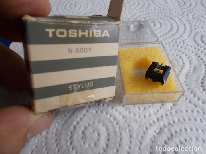 ENVIO CON TC: 3€ AGUJA PARA TOCADISCOS: TOSHIBA STYLUS DIAMANTE N-60Y NUEVA (Radios, Gramófonos, Grabadoras y Otros - Transistores, Pick-ups y Otros)
