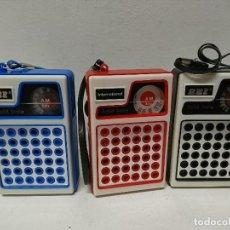 Radios antiguas: 267-LOTE DE TRES RADIO TRANSISTORES EEI 171B. Lote 187387560