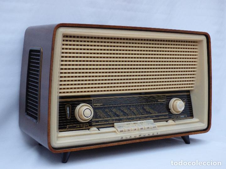 ANTIGUA RADIO DE VÁLVULAS, MARCA BLAUPUNKT, EN MAGNIFICO ESTADO, FUNCIONANDO GRAN SONIDO (VER VÍDEO) (Radios, Gramófonos, Grabadoras y Otros - Transistores, Pick-ups y Otros)