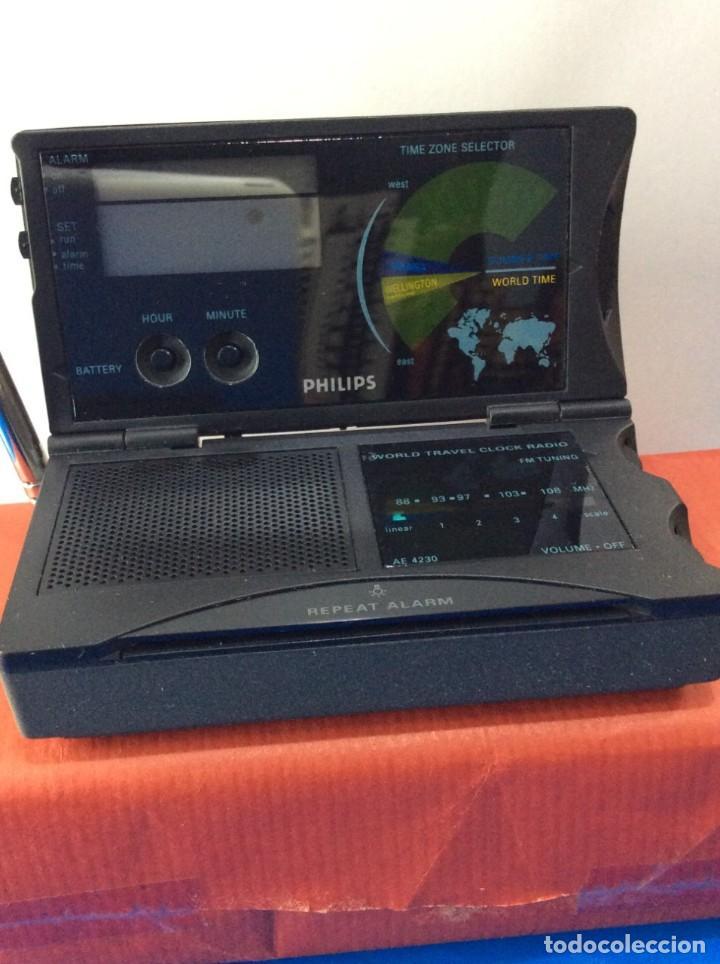 Radios antiguas: RADIO RELOJ PHILIPS AE 4230 AÑO 85 ¡¡ NUEVO !! VINTAGE !!!!!! - Foto 6 - 130521044